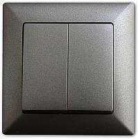 Выключатель Gunsan Visage 01281700-150103 (дымка) -
