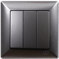 Выключатель Gunsan Visage 01281700-150160 (дымка) -