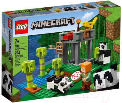 Конструктор Lego Minecraft Питомник панд 21158