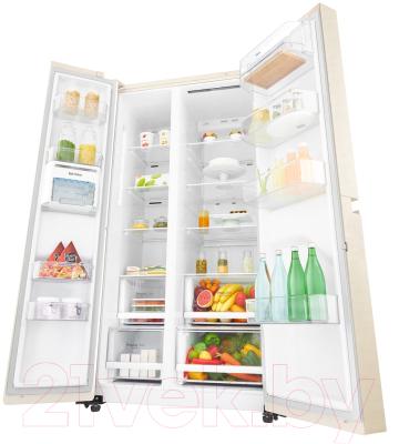 Холодильник с морозильником LG DoorCooling+ GC-B247SEDC