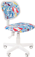 Кресло детское Chairman Kids 106 (белый пластик/единороги) -