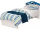 Односпальная кровать ABC-King La-Man / LM-1002-160 (синий) -
