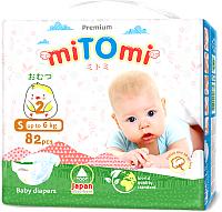 Подгузники детские MiTomi Premium S до 6 кг (82шт) -