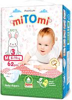 Подгузники детские MiTomi Premium M от 6 до 11кг (62шт) -