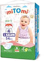 Подгузники детские MiTomi Premium L от 9 до 14кг (54шт) -