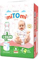 Подгузники-трусики детские MiTomi Premium M от 6 до 11кг (58шт) -