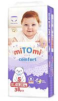 Подгузники-трусики детские MiTomi Comfort XL от 12 до 20кг (38шт) -