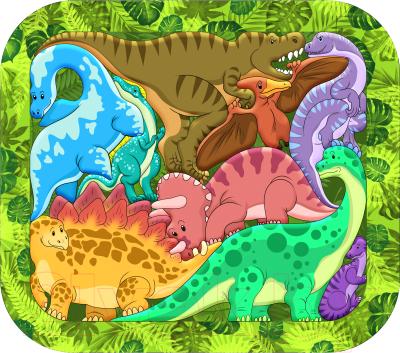 Пазл Нескучные игры Динозавры / 8076