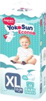 Подгузники-трусики детские YokoSun Econom XL от 12 до 20кг (38шт) -