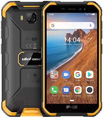 Смартфон Ulefone Armor X6 (черный/оранжевый)