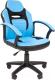 Кресло детское Chairman Kids 110 (экопремиум, черный/голубой) -
