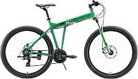 Велосипед STARK Cobra 27.2 D 2020 (20, зеленый/черный) -