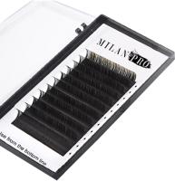 Ресницы для наращивания Milan Pro 1023 0.07/D/11 (16 линий, матовый черный) -