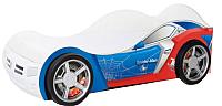 Стилизованная кровать детская ABC-King Человек паук / PK-1000-160 (голубой) -