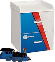 Тумба ABC-King Человек паук / PK-1020 (голубой) -