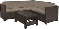 Комплект садовой мебели Keter Provence Set / 227777 (коричневый) -
