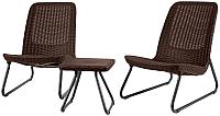 Комплект садовой мебели Keter Rio Patio Set / 211426 (коричневый) -