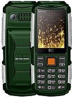 Мобильный телефон BQ Tank Power BQ-2430 (зеленый/серебристый) -