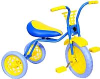 Детский велосипед Самокатыч Зубренок / 526-611B (голубой/желтый) -