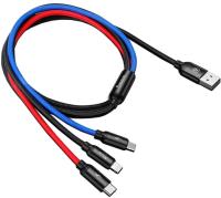 Сплиттер Baseus 3в1 / CAMLT-BSY01 (1.2м, черный) -