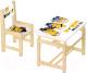 Комплект мебели с детским столом Polini Kids Fun 400 SM Миньоны (желтый) -