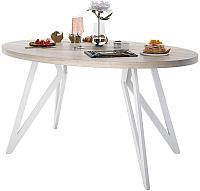 Обеденный стол Domus Оригами-2 / 14-103-102-06 (вяз светлый/белый) -