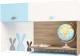 Полка ABC-King Mix Bunny левый / MIX-11-01-K-BB (голубой) -