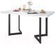Обеденный стол Domus Симпл-6 / 14.101.106.02 (белый/черный) -