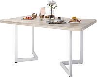 Обеденный стол Domus Симпл-6 / 14.101.106.06 (вяз светлый/белый) -
