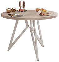 Обеденный стол Domus Оригами-1 / 14.103.101.06 (вяз свелый/белый) -