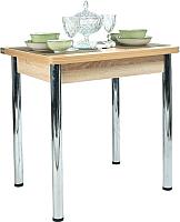 Обеденный стол Рамзес Ломберный ЛДСП 60x80 (дуб сонома светлый/ноги хром) -