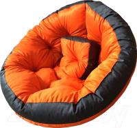 Бескаркасное кресло-трансформер Angellini 9с0012тр (М, оранжевый/серый) -