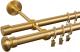 Карниз для штор АС ФОРОС Dance D19Г/19Г+наконечники Шар плоский матовое золото (2.4м, матовое золото) -