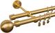 Карниз для штор АС ФОРОС Dance D19Г/19Г+наконечники Шар модерн матовое золото (3м, матовое золото) -