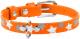 Ошейник Collar Waudog Glamour Звездочка 35834 (оранжевый) -