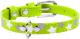 Ошейник Collar Waudog Glamour Звездочка 35835 (салатовый) -