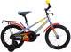 Детский велосипед Forward Meteor 12 2020 / RBKW0LNE1019 (серо-голубой/желтый) -