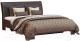 Двуспальная кровать Мебель-КМК 1600-01 0685.1 (орех донской/Danver 23) -