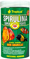 Корм для рыб TROPICAL Super Spirulina Forte Mini Granulat / 60543 (100мл) -