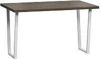 Обеденный стол Loftyhome Лондейл 3 / LD050306 (серый с белым основанием) -