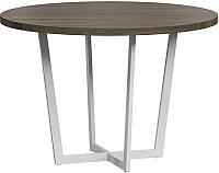 Обеденный стол Loftyhome Лондейл 4 / LD050406 (серый с белым основанием) -