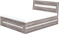 Односпальная кровать Мебель-Неман Кристалл МН-131-01-90 (дуб сонома/трюфель) -