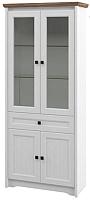 Шкаф с витриной Мебель-Неман Тиволи МН-035-08 (белый структурный/дуб стирлинг) -