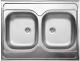 Мойка кухонная Ukinox Стандарт STD800.600 20 6C 3C -