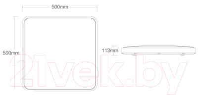Потолочный светильник Yeelight Ceiling Light Plus 500 / YLXD10YL (серый)