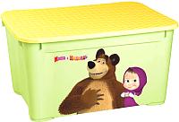 Ящик для хранения Бытпласт Маша и Медведь 4313793 (салатовый) -