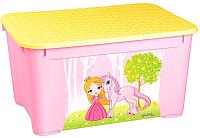 Ящик для хранения Бытпласт С аппликацией 43137760597 (розовый) -