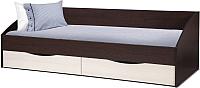 Кровать-тахта Олмеко Фея-3 90x200 (венге/дуб линдберг) -