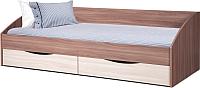 Кровать-тахта Олмеко Фея-3 90x200 (шимо темный/шимо светлый) -