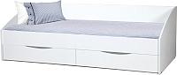 Кровать-тахта Олмеко Фея-3 90x200 (белый) -